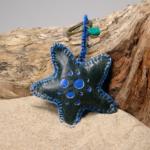 Juts-seastar-zeegroenblauw