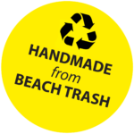 Hand made from beach trash